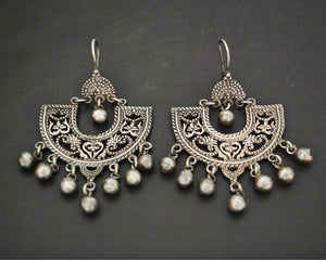 Egyptian Silver Earrings with Dangles