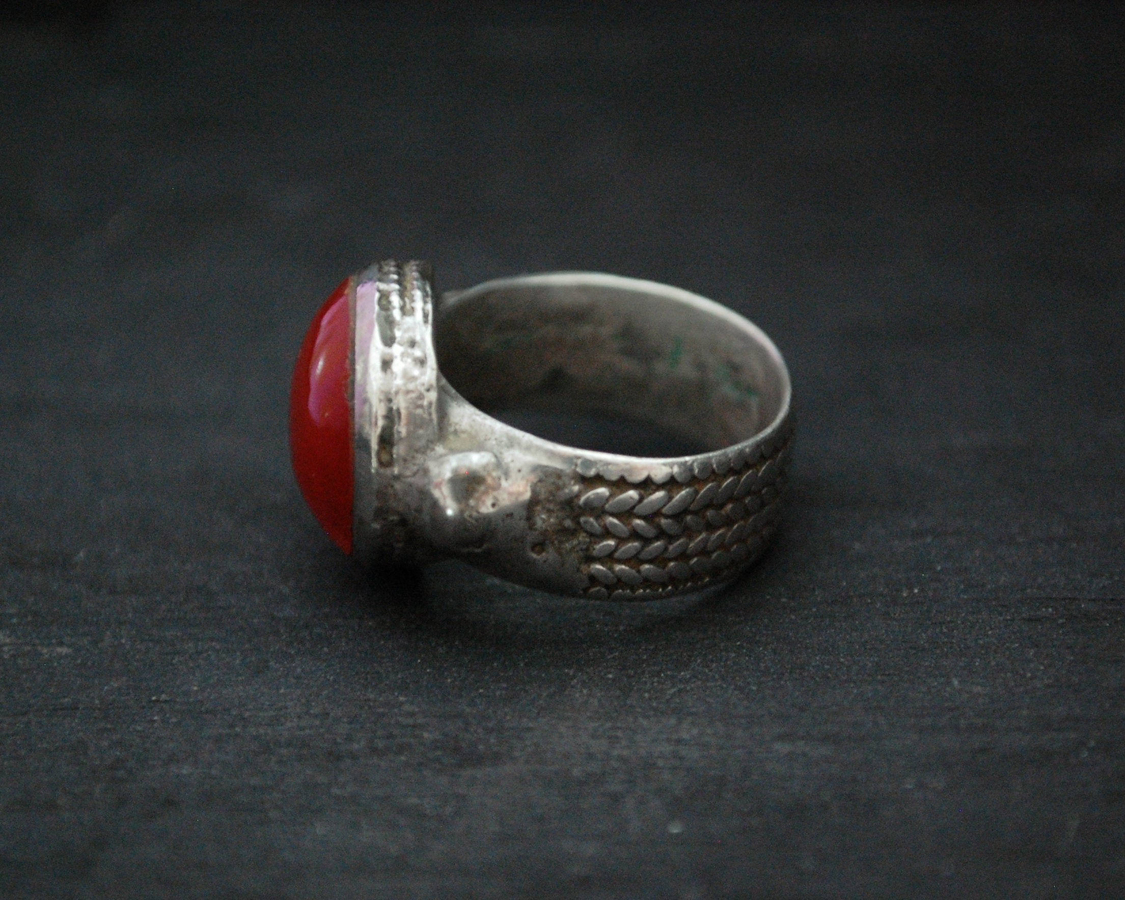 Antique Afghani Carnelian Ring - Size 8.25