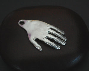 Solid Silver Hand and Eye Pendant