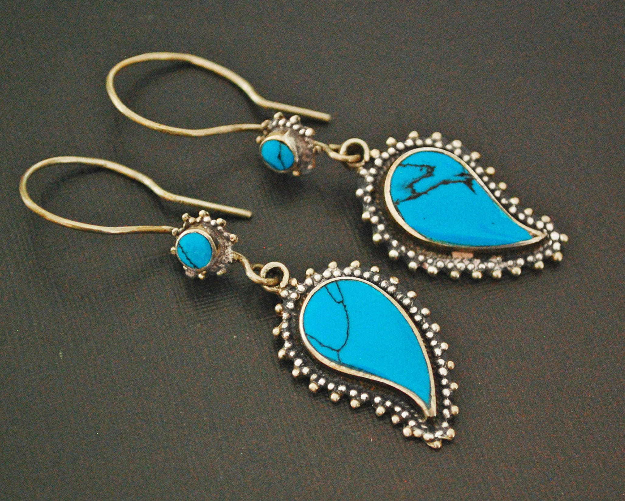 Ethnic Turquoise Earrings India