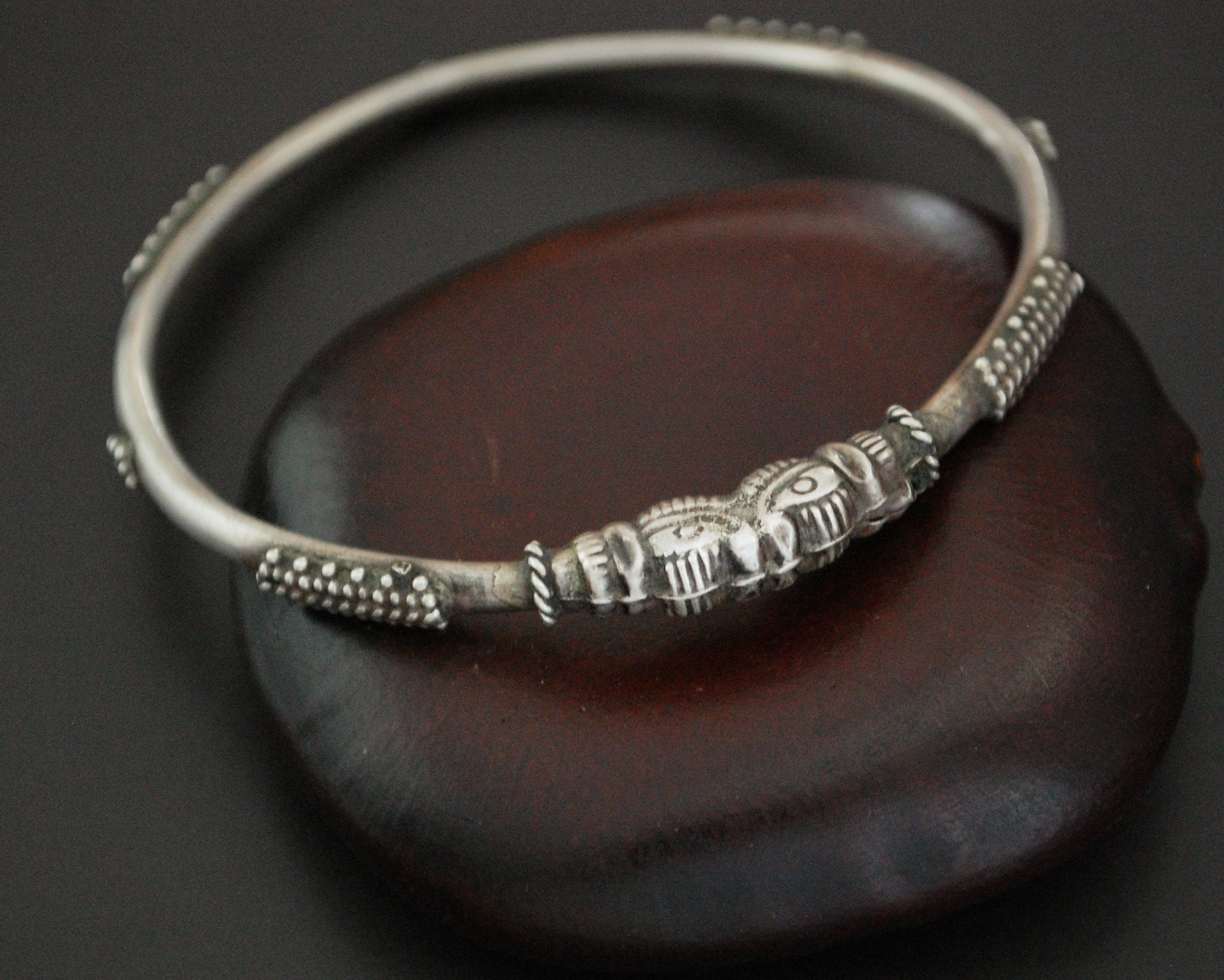 Indian Elephant Bangle Bracelet - XS