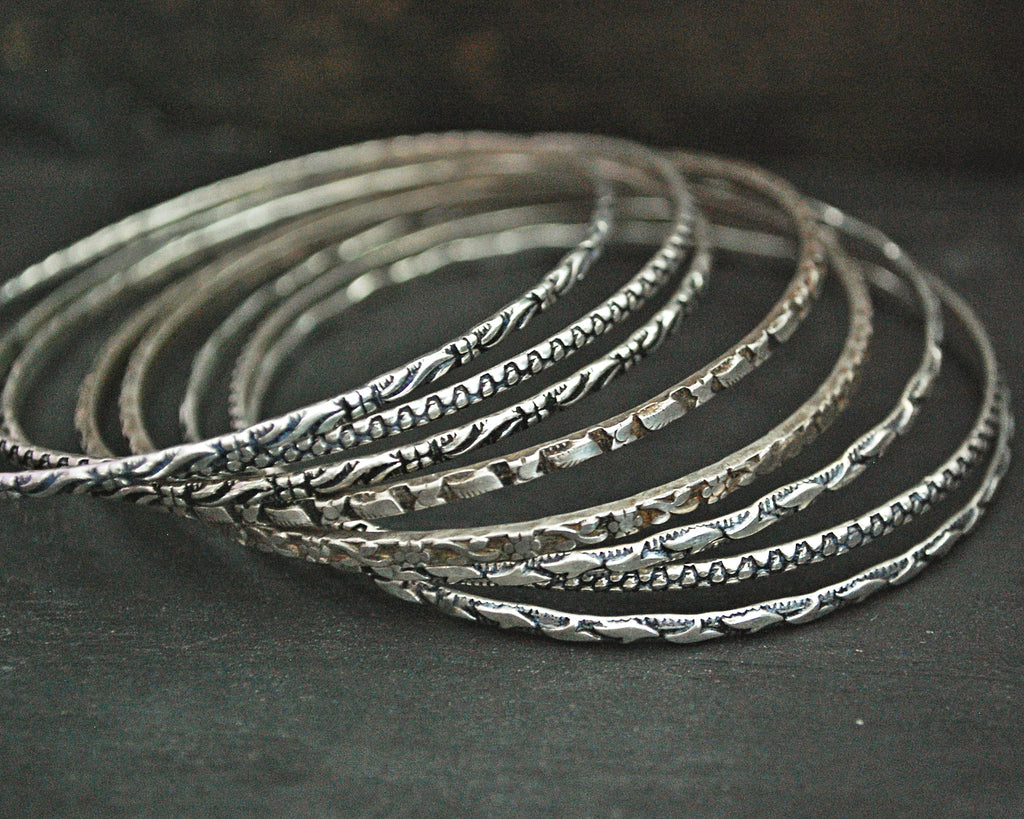 Rajasthani Silver Bangle Bracelet Set