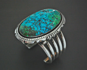 Huge Mexican Turquoise Cuff Bracelet - Heavy
