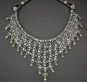 Indian Silver Choker Necklace