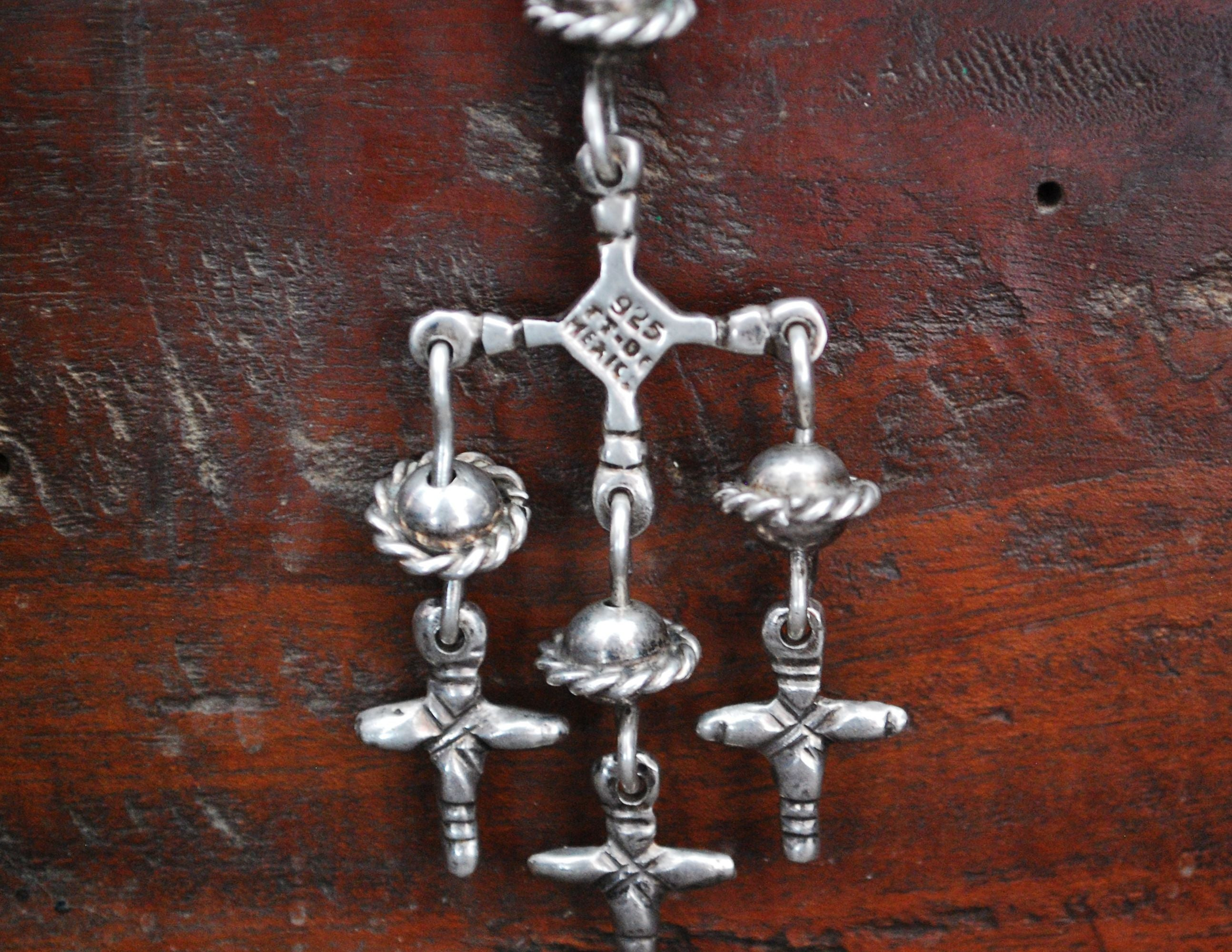 Yalalag Silver Cross Pendant - Mexican Jewelry