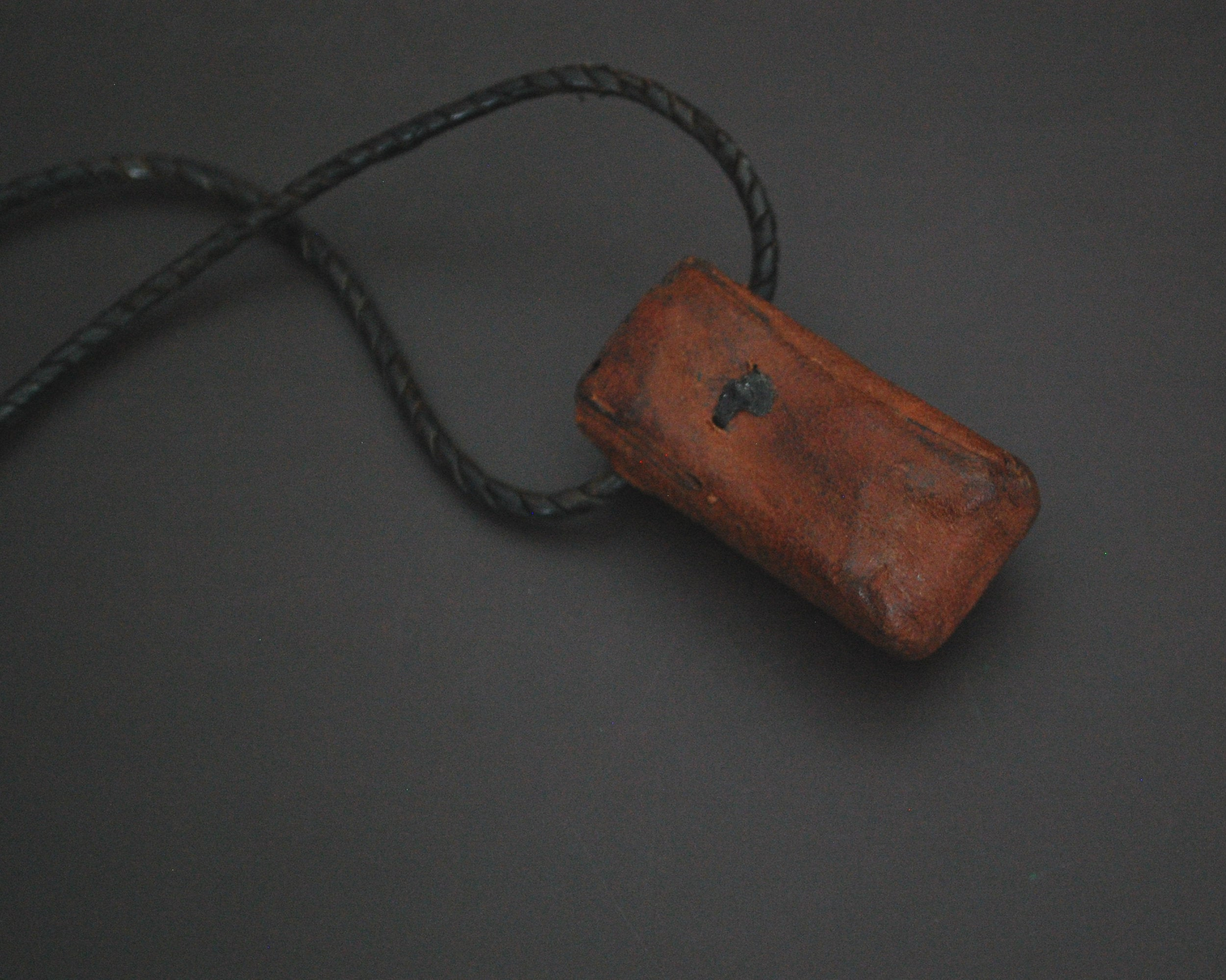 Tuareg Cross Leather Talisman Pendant on Leather Cord