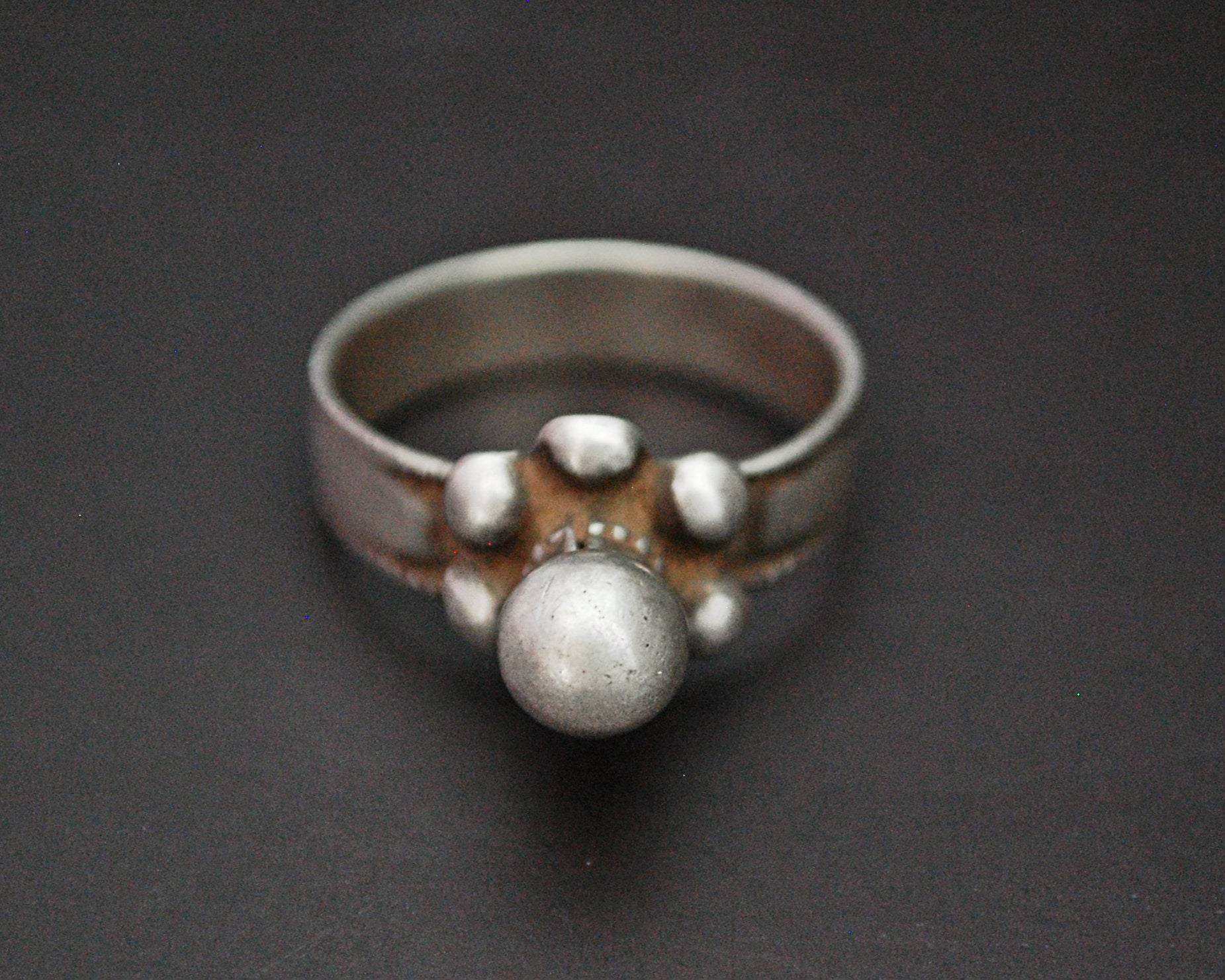 Old Rajasthani Tribal Silver Ring - Size 9