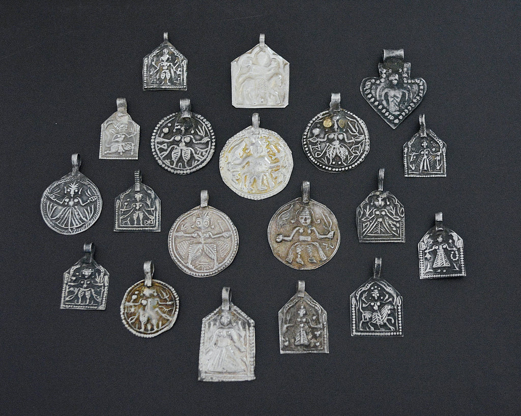 Set Hindu Charm Amulet Pendants - SET