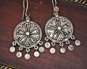 Vintage Indian Sterling Silver Earrings