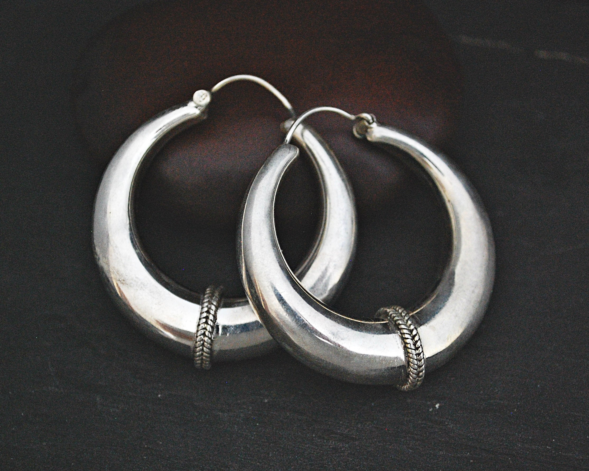 Ethnic Hoop Earrings from India - LARGE