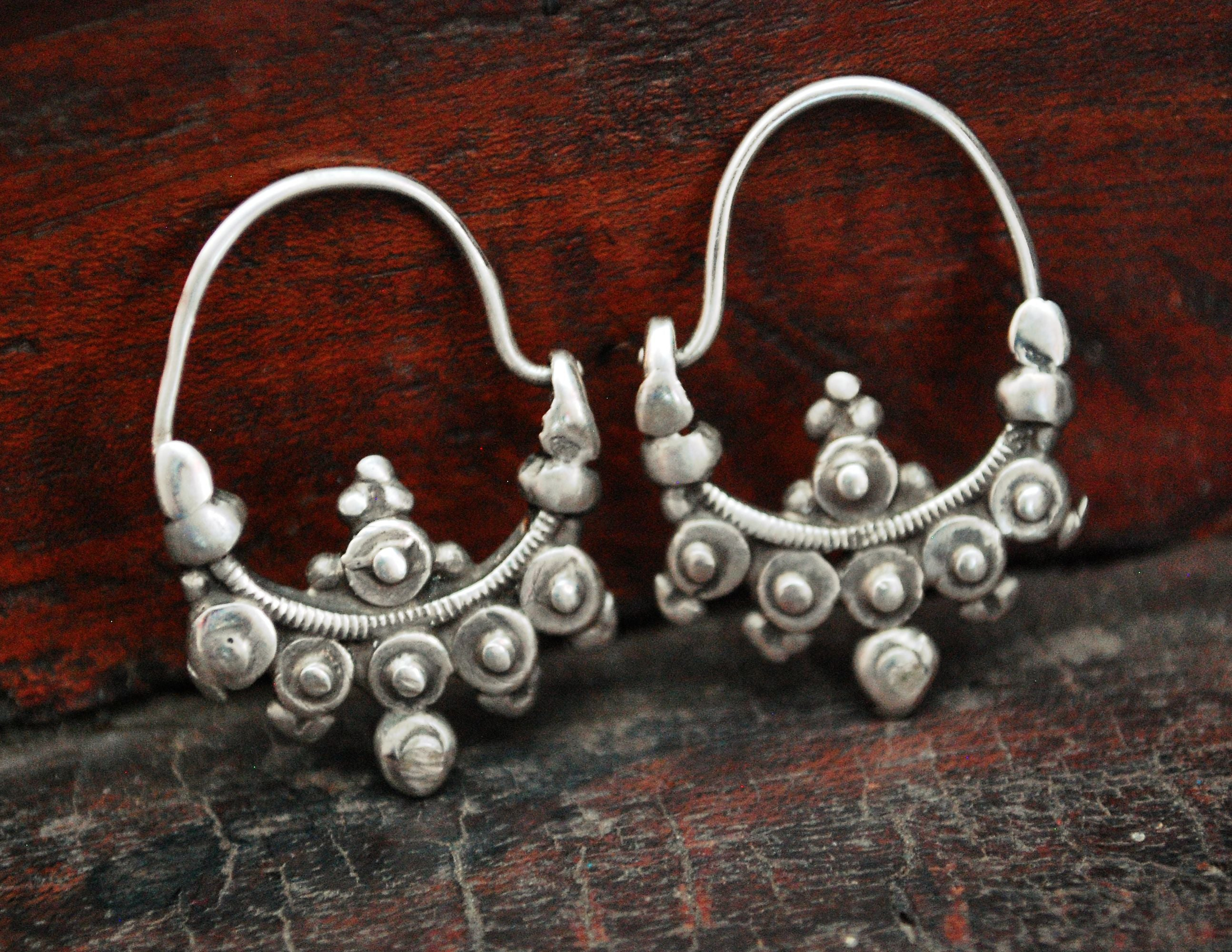 Rare Antique Afghani Tribal Earrings