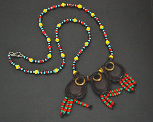 Woodaabe Leather Beaded Necklace