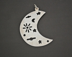 Crescent Moon Pendant - Sterling Silver