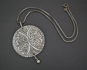 Engraved Berber Head Ornament Pendant on Chain