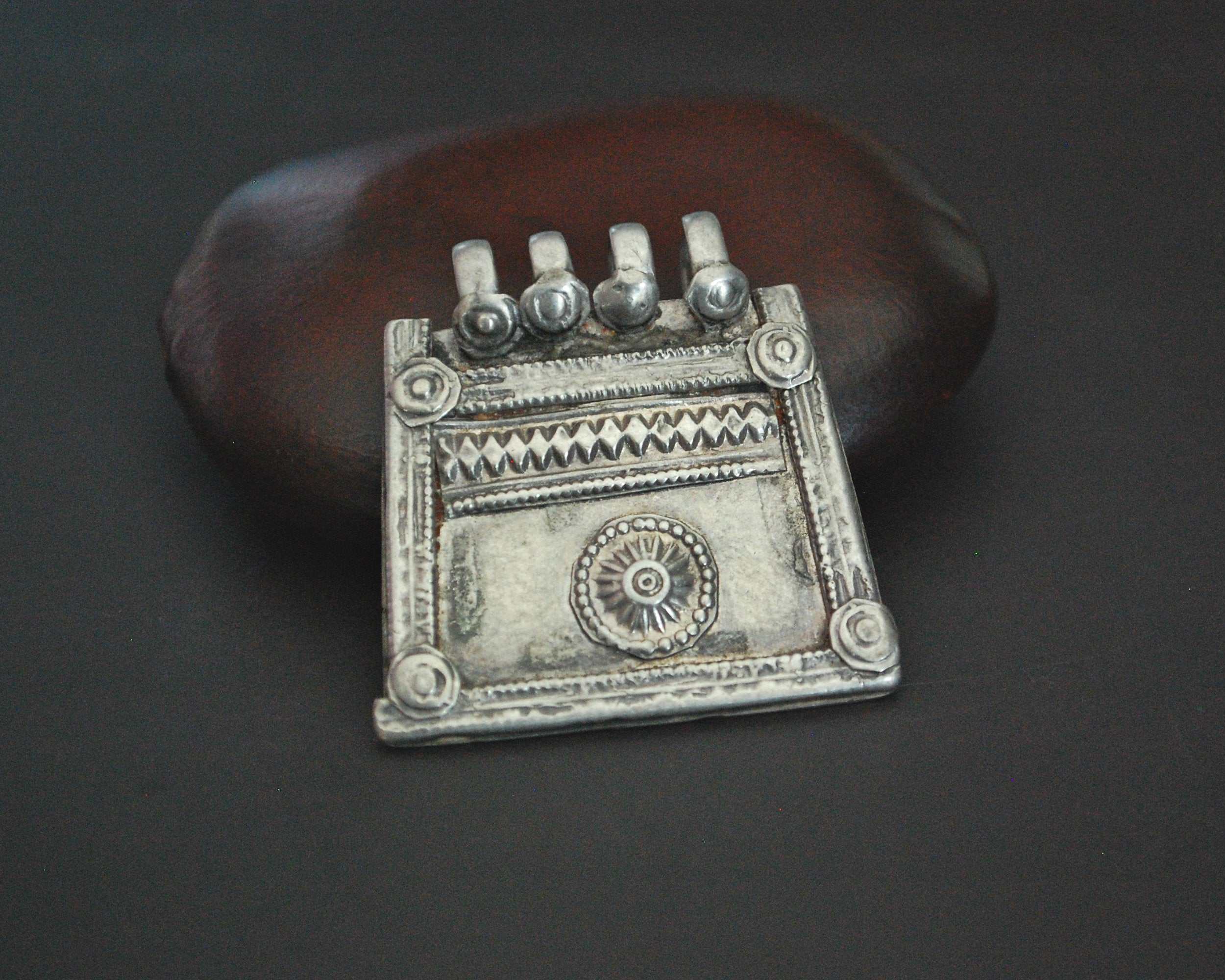 Antique Afghani Silver Pendant