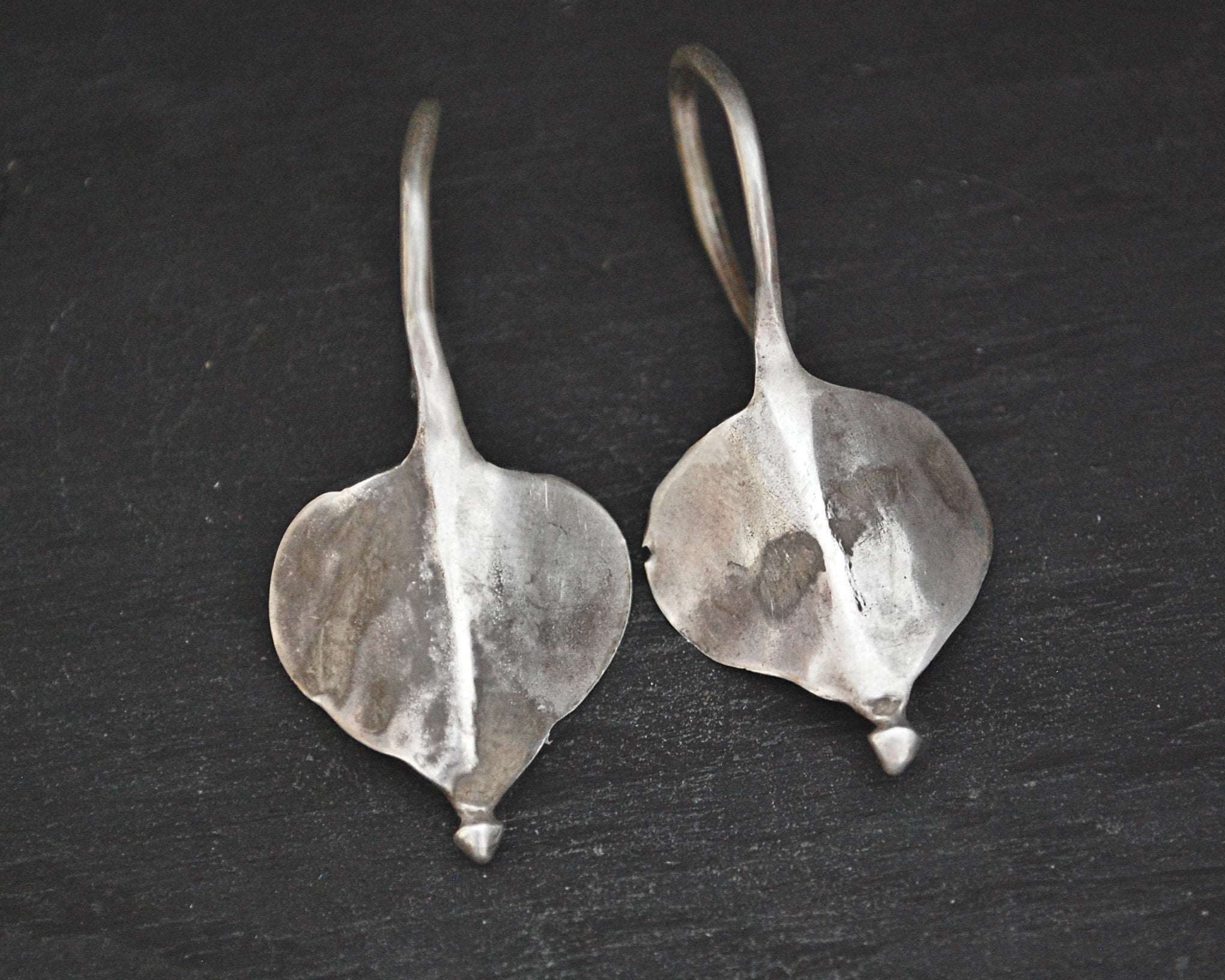 Old Tribal Rajasthani Silver Earrings