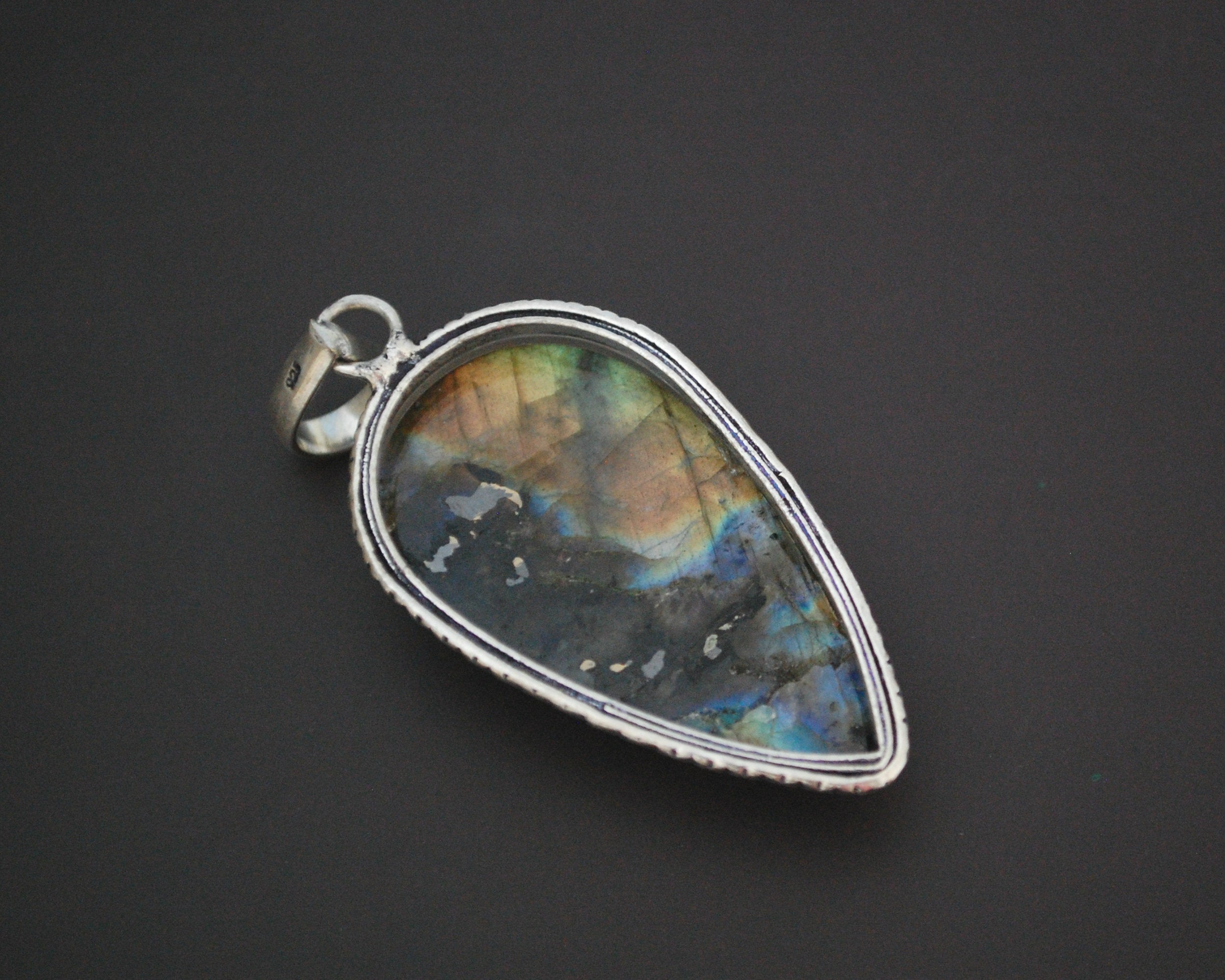 Labradorite Pendant on Sterling Silver Setting