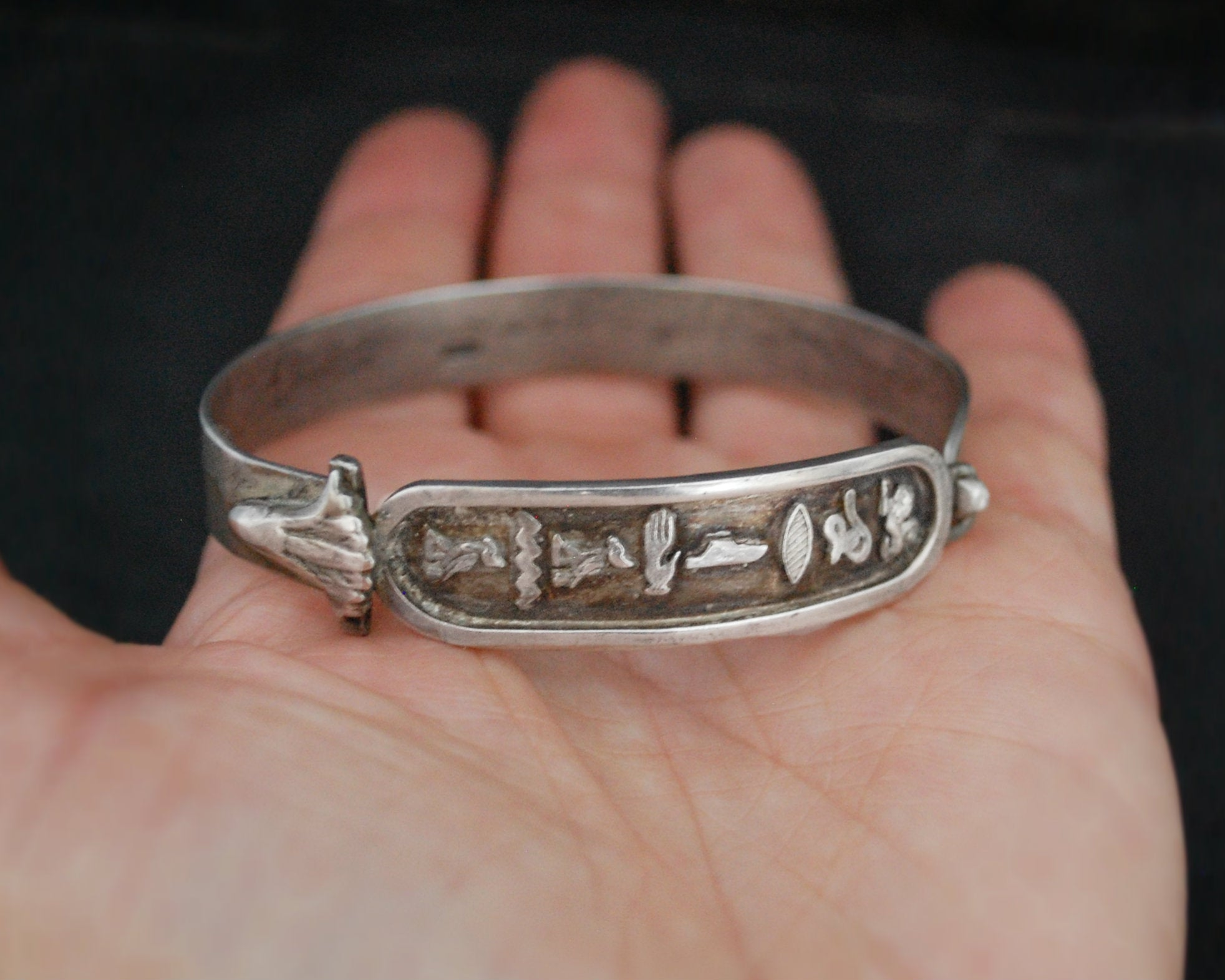 Egyptian Hieroglyph Bracelet - SMALL