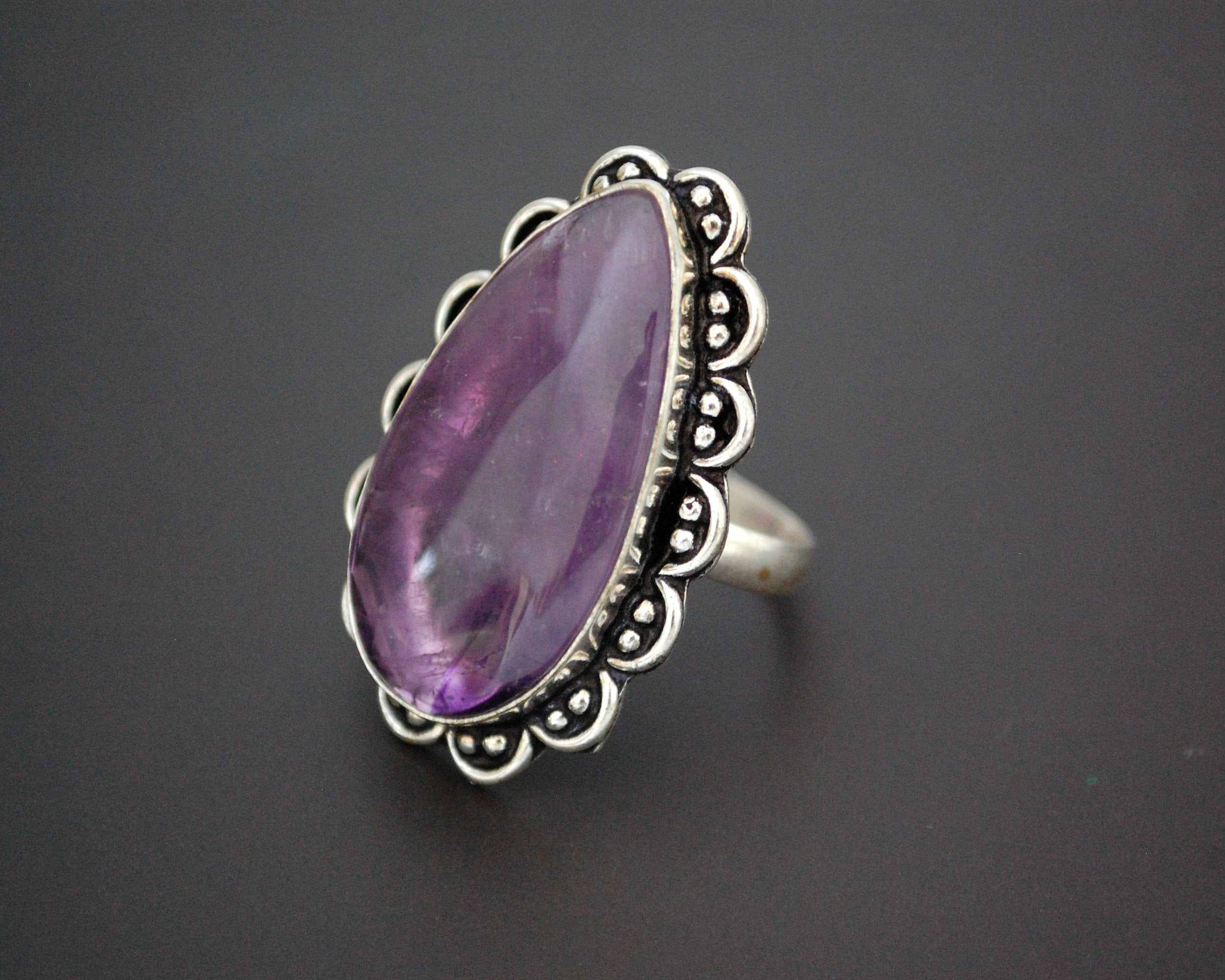 Amethyst Ring from India - Size 9.25