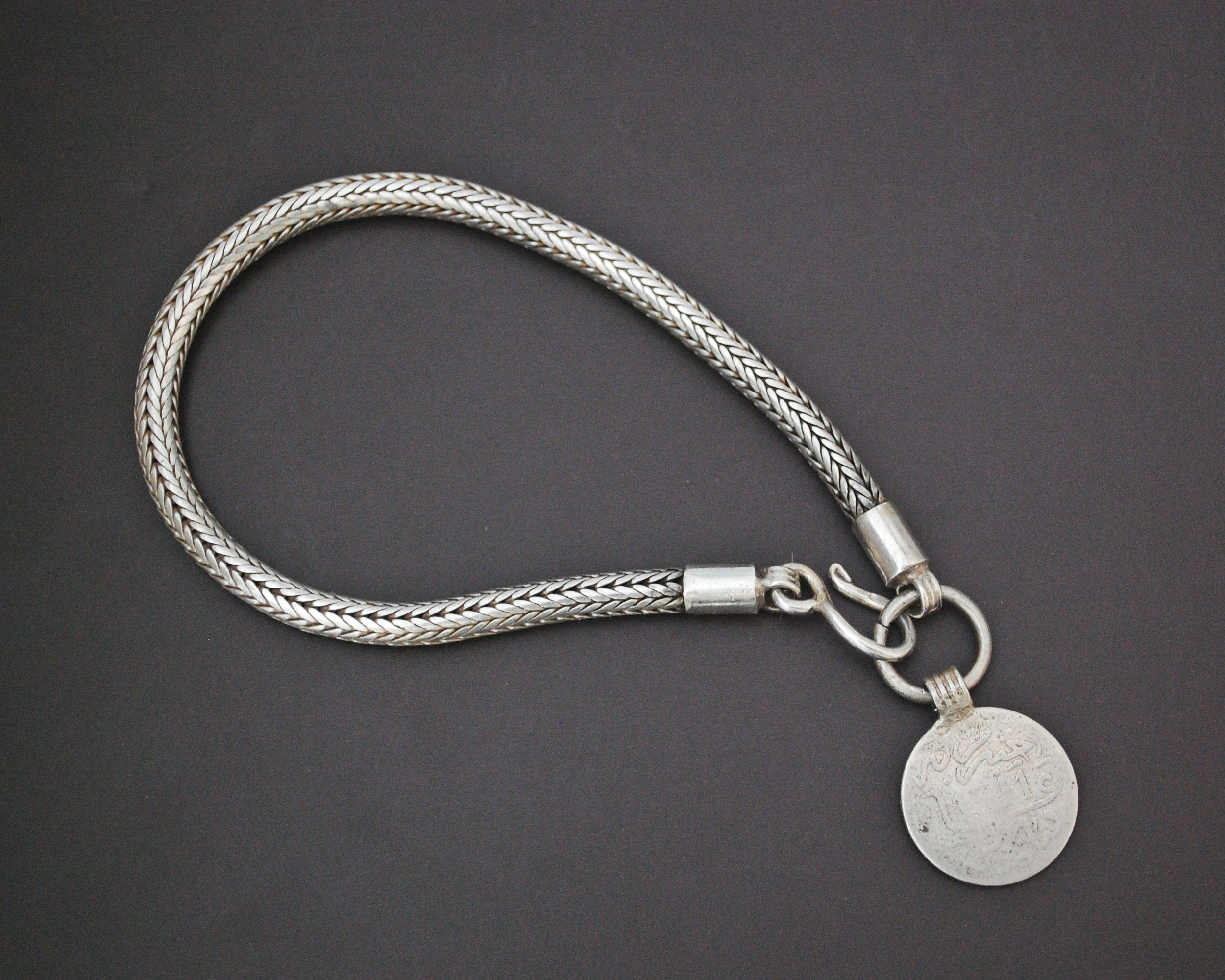 Snake Chain Bracelet with Berber Coin