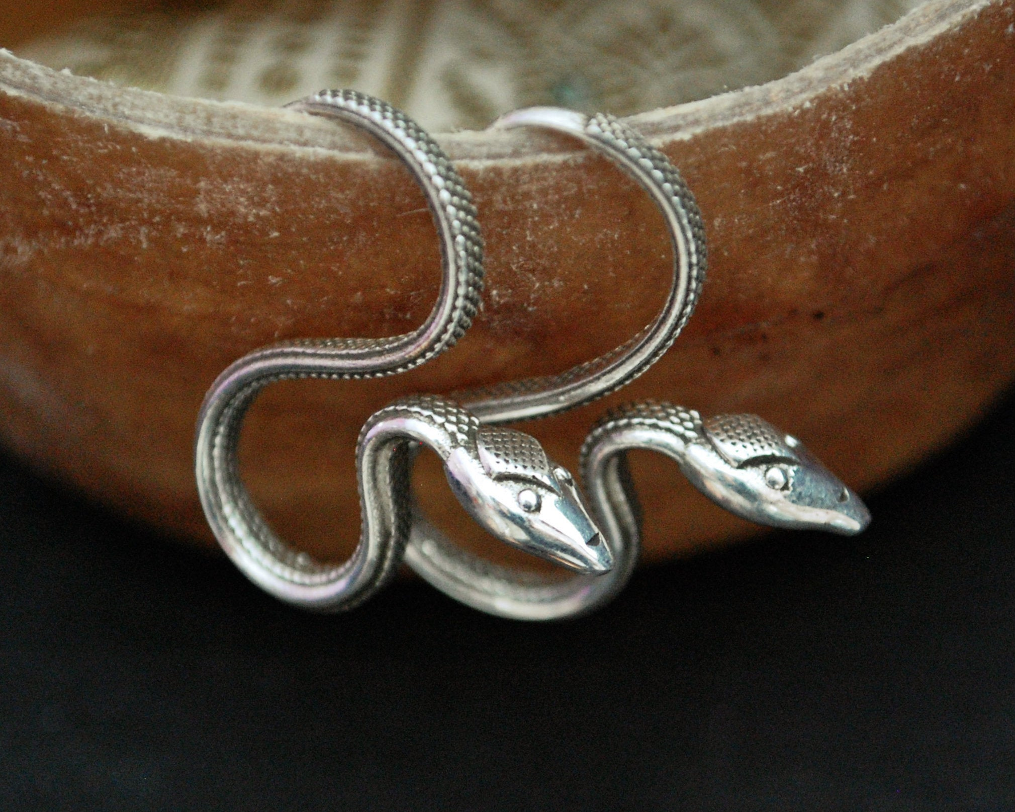 Snake Earrings - Silver Snake Earrings