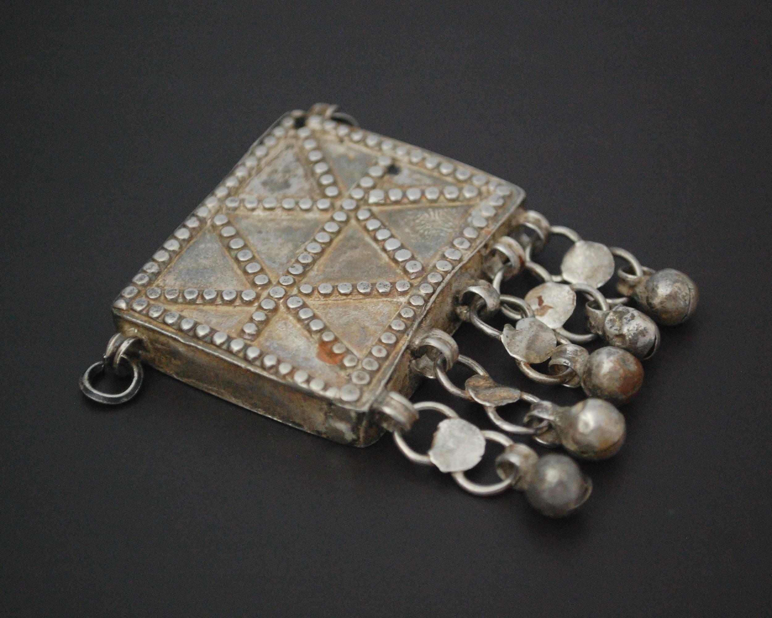 Bedouin Egyptian Zar Amulet Pendant Box with Bells
