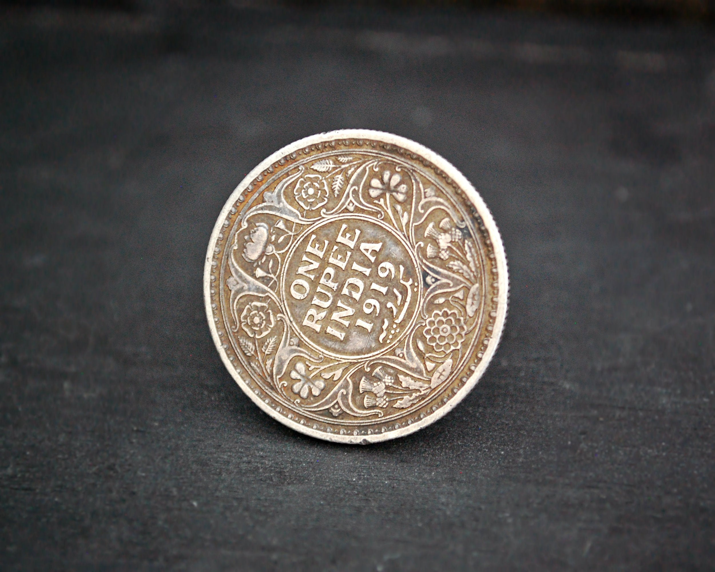 Indian Coin Ring - Size 8.5