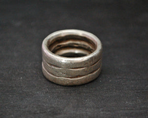 Old Indian Tribal Silver Band Ring - Size 5.5