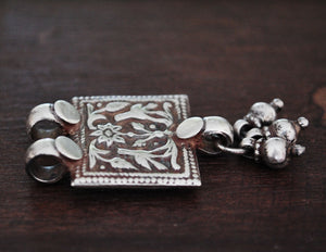 Rajasthani Silver Amulet with Bells