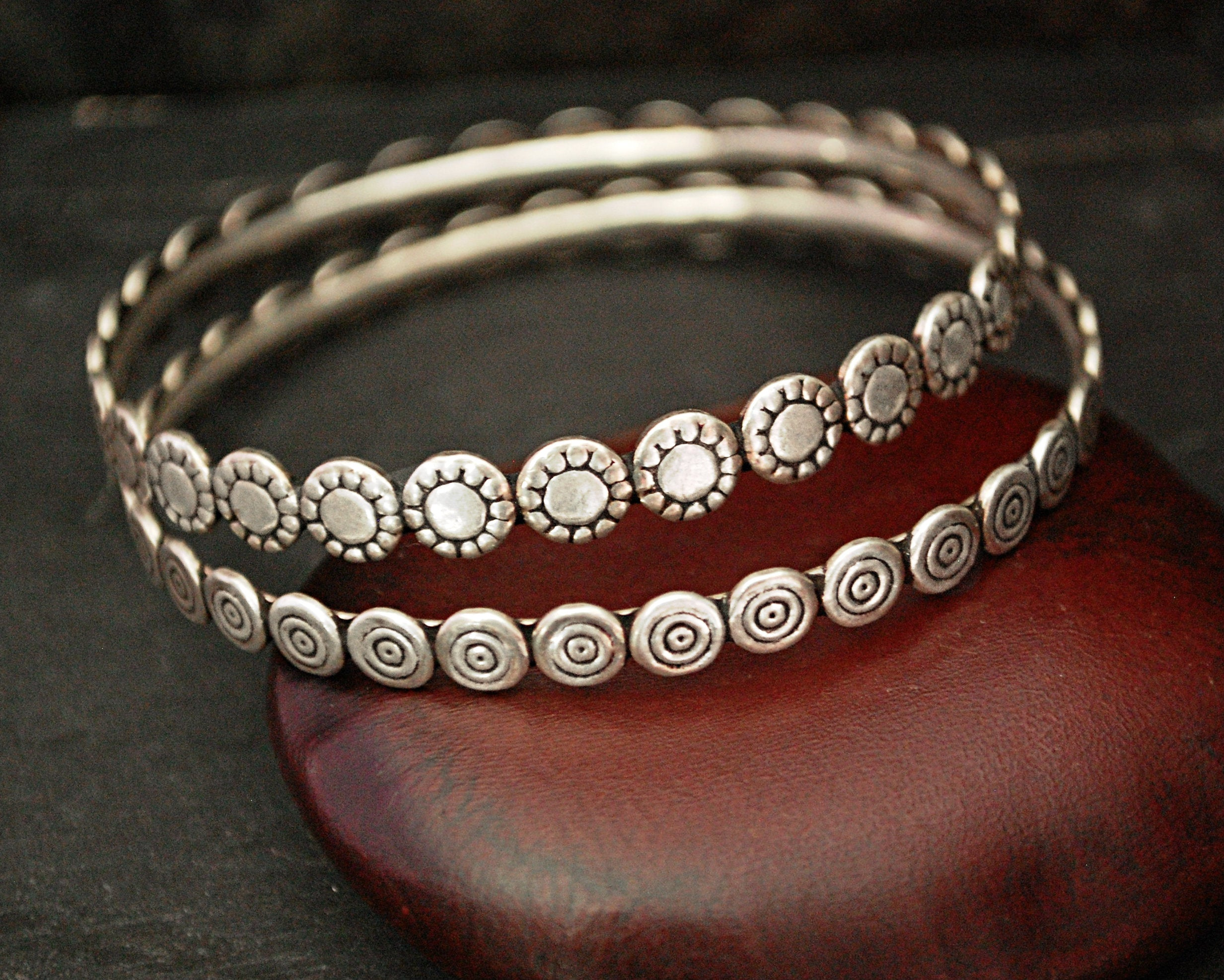 Pair of Rajasthani Silver Bracelets