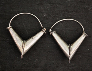 Rajasthani Silver Hoop Earrings