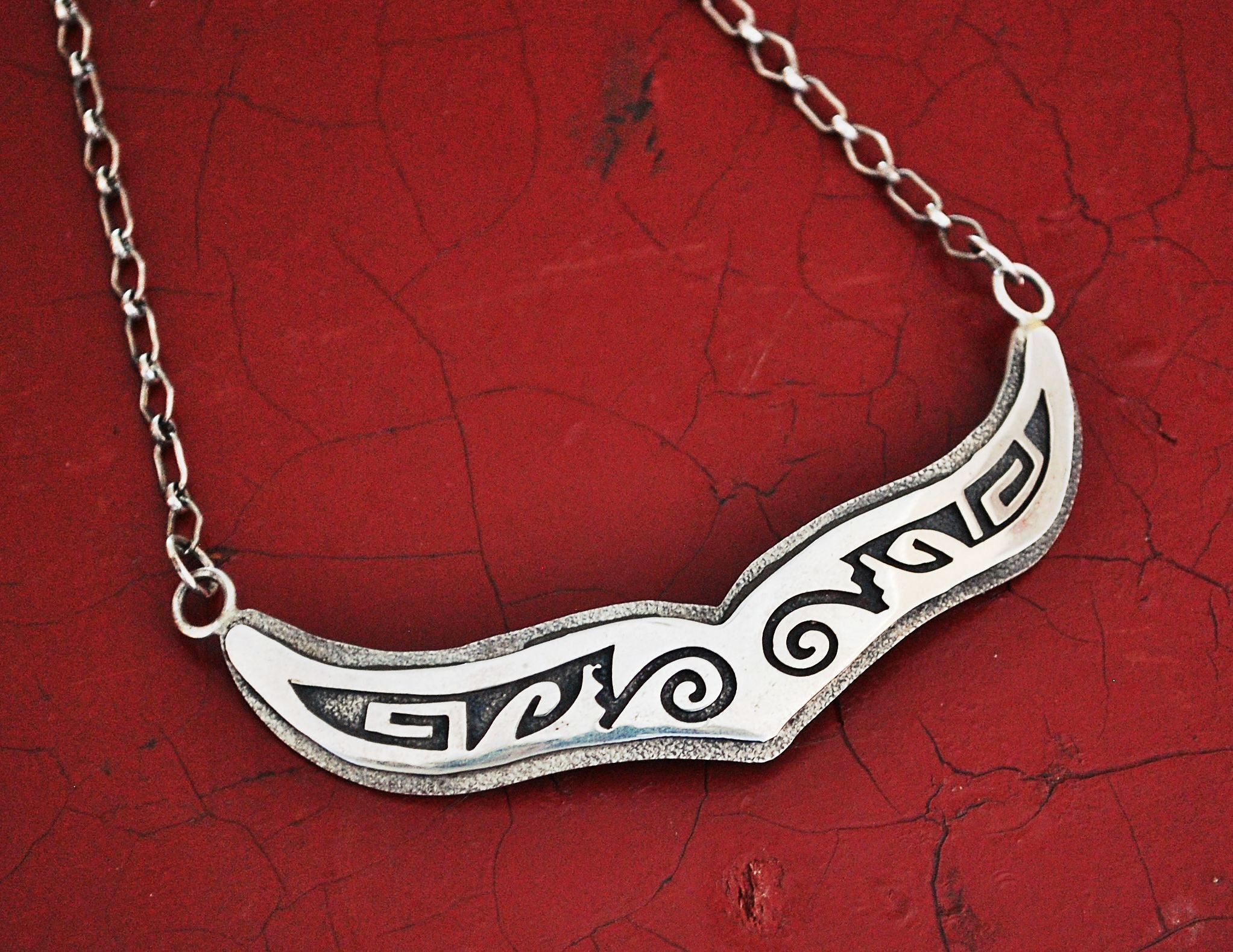 Hopi Sterling Silver Choker Necklace