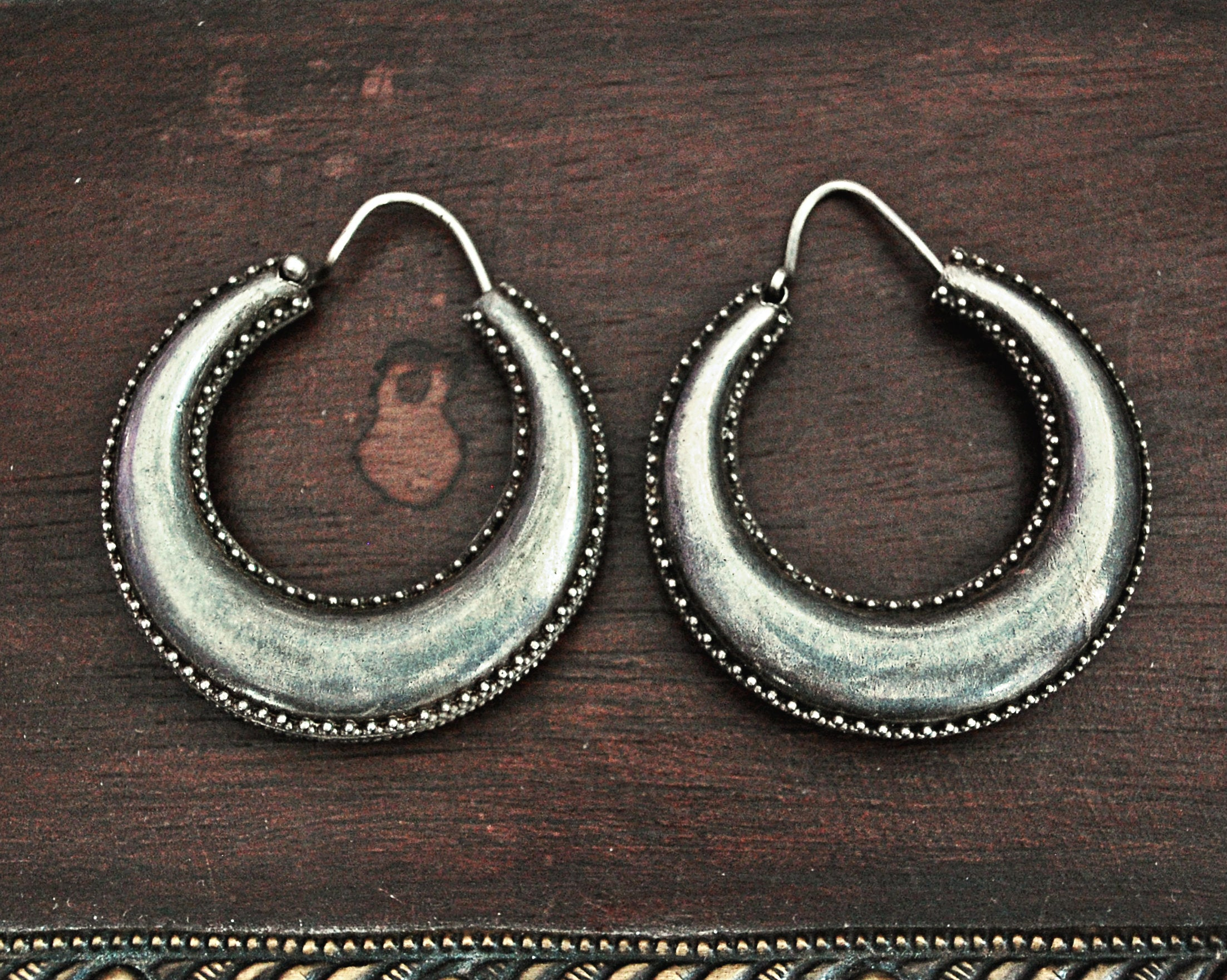 Ethnic Hoop Earrings from India - MEDIUM/LARGE