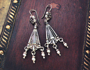 Rajasthani Silver Earrings with Bells