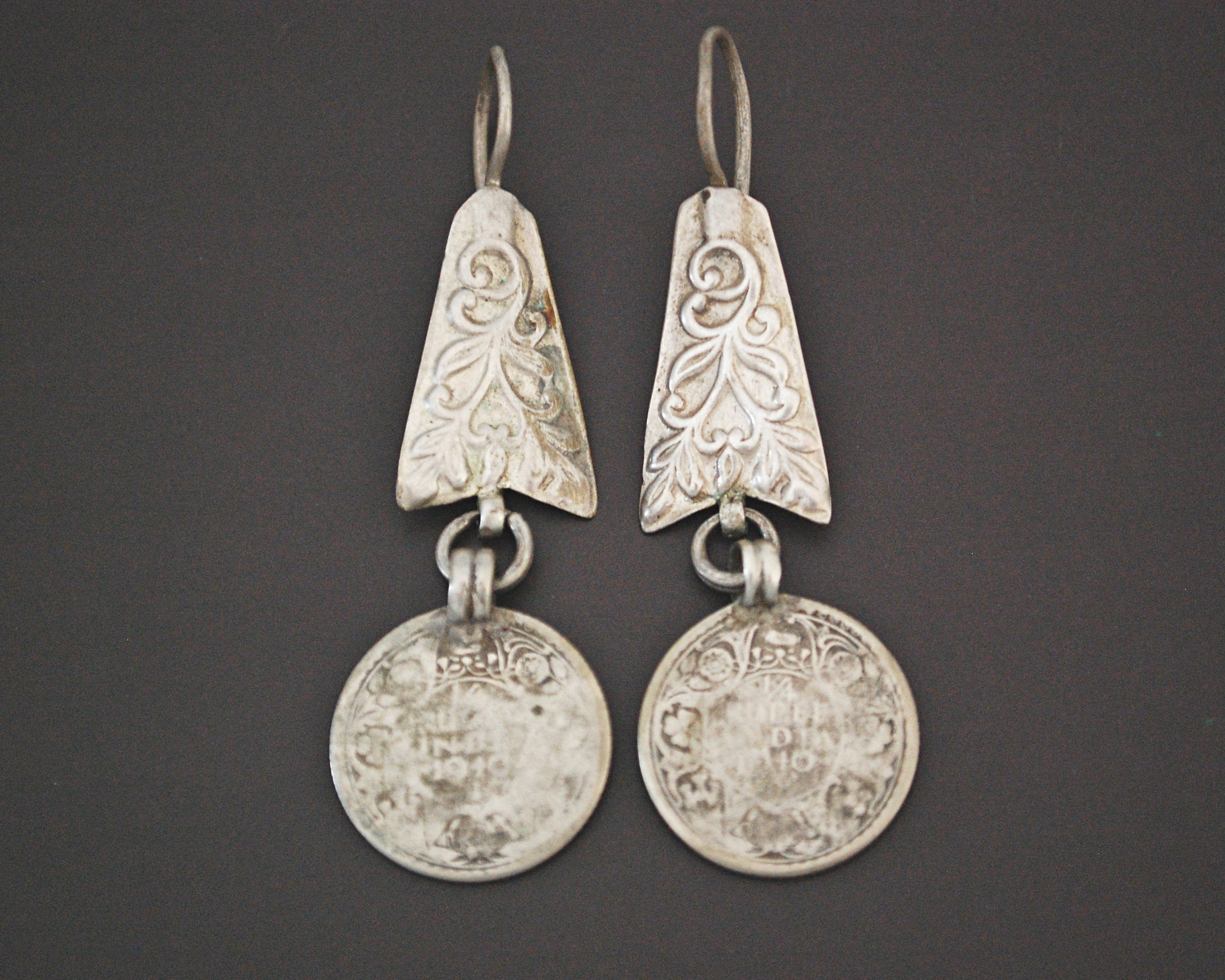 Ethnic Indian Earrings with Coins