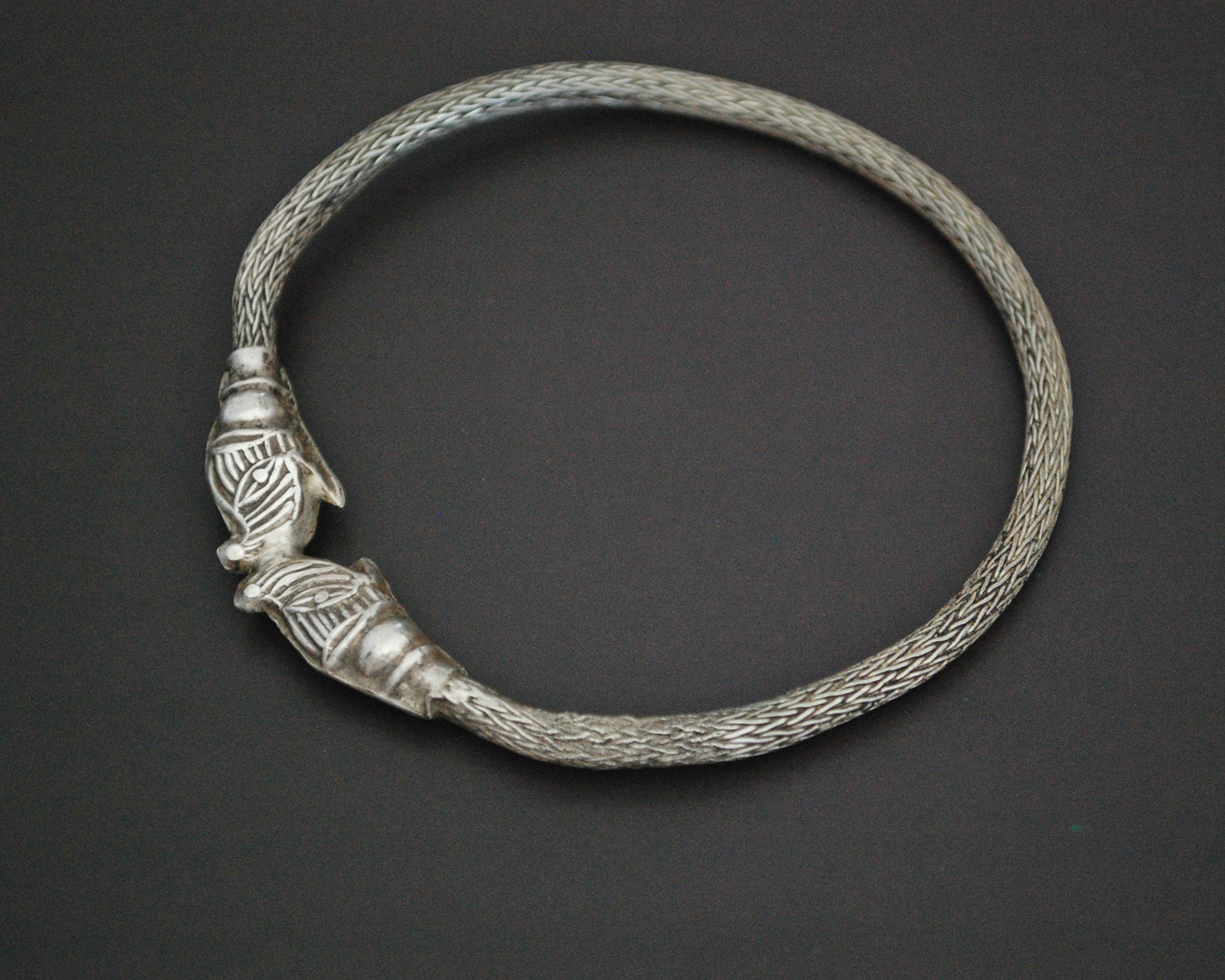 Indian Elephants Head Snake Chain Bracelet