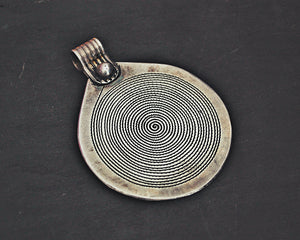 Large Berber Spiral Pendant from Morocco