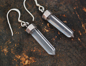 Crystal Quartz Point Earrings