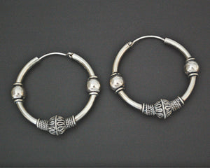 Ethnic Bali Hoop Earrings - Medium / Large