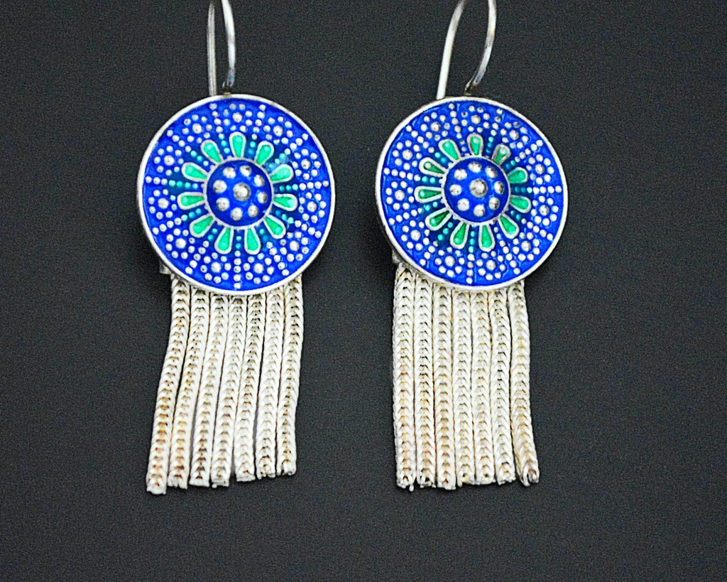 Turkish Enamel Tassel Earrings