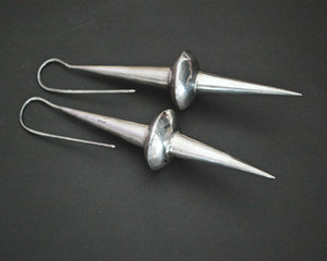 Very Long Ethnic Spike Earrings from India