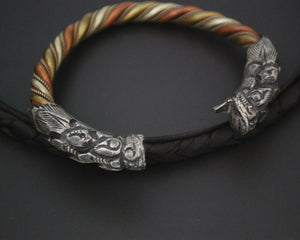 Nepali Twisted Dragon Bracelet - Three Colored