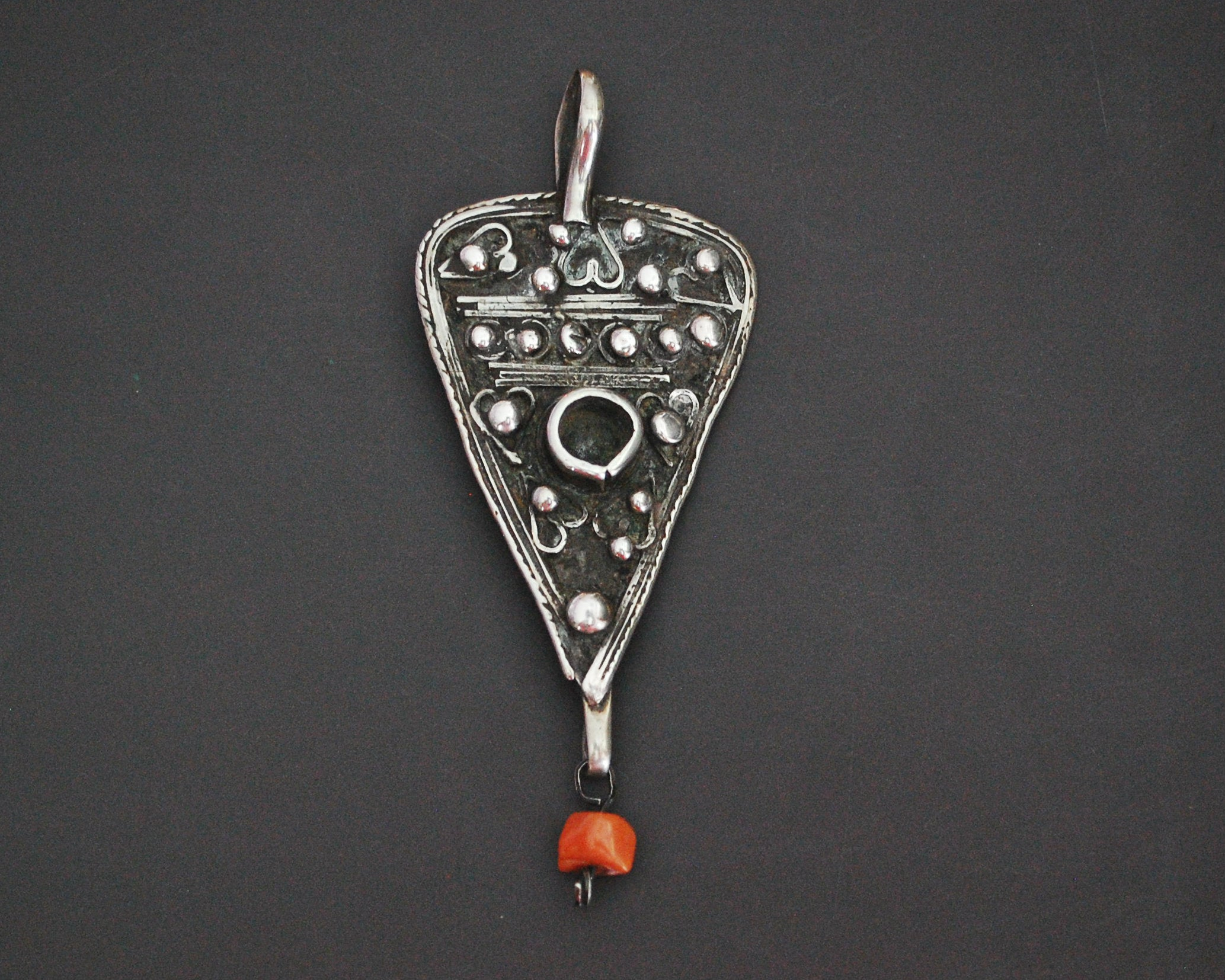 Old Tunisian Berber Pendant with Coral