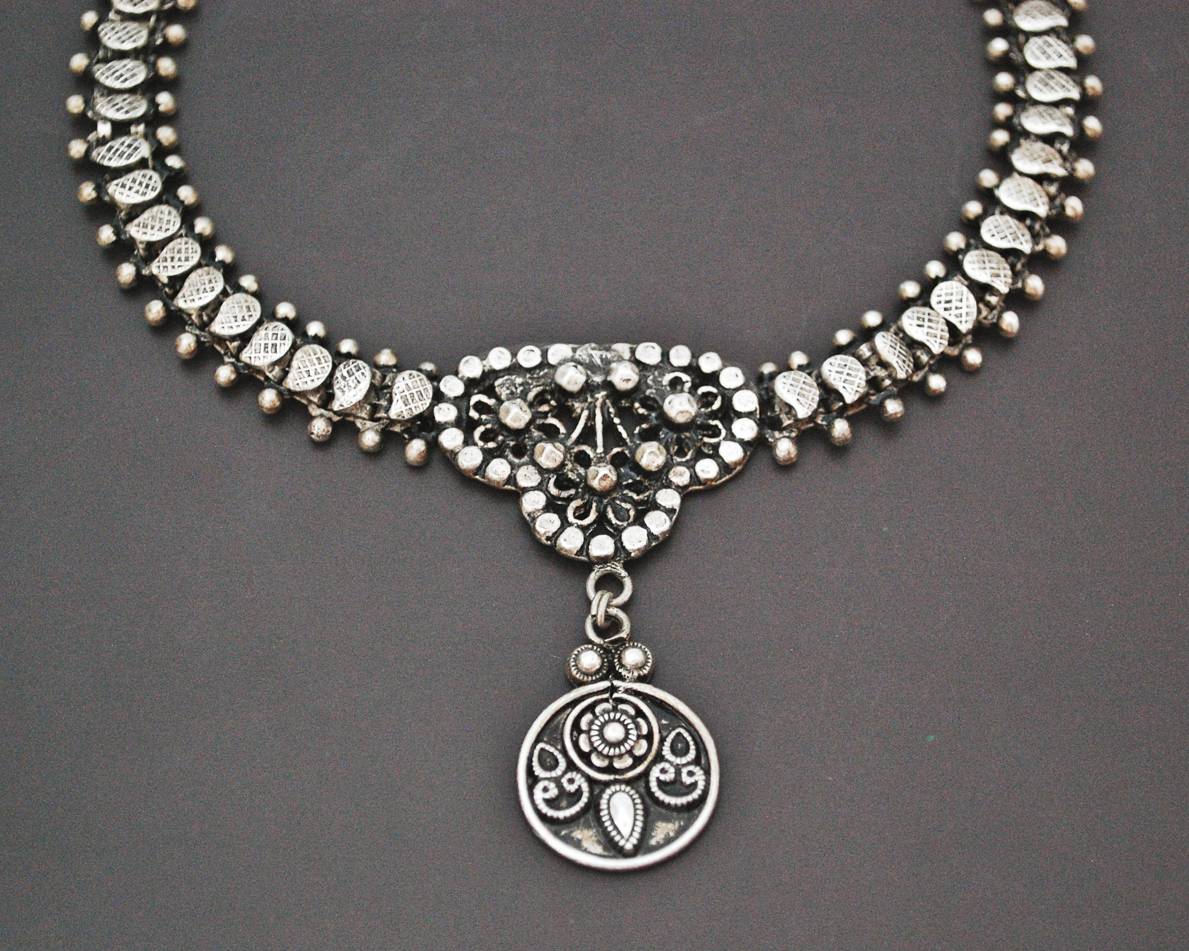 Rajasthani Silver Choker Necklace