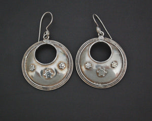 Ethnic Indian Silver Dangle Earrings