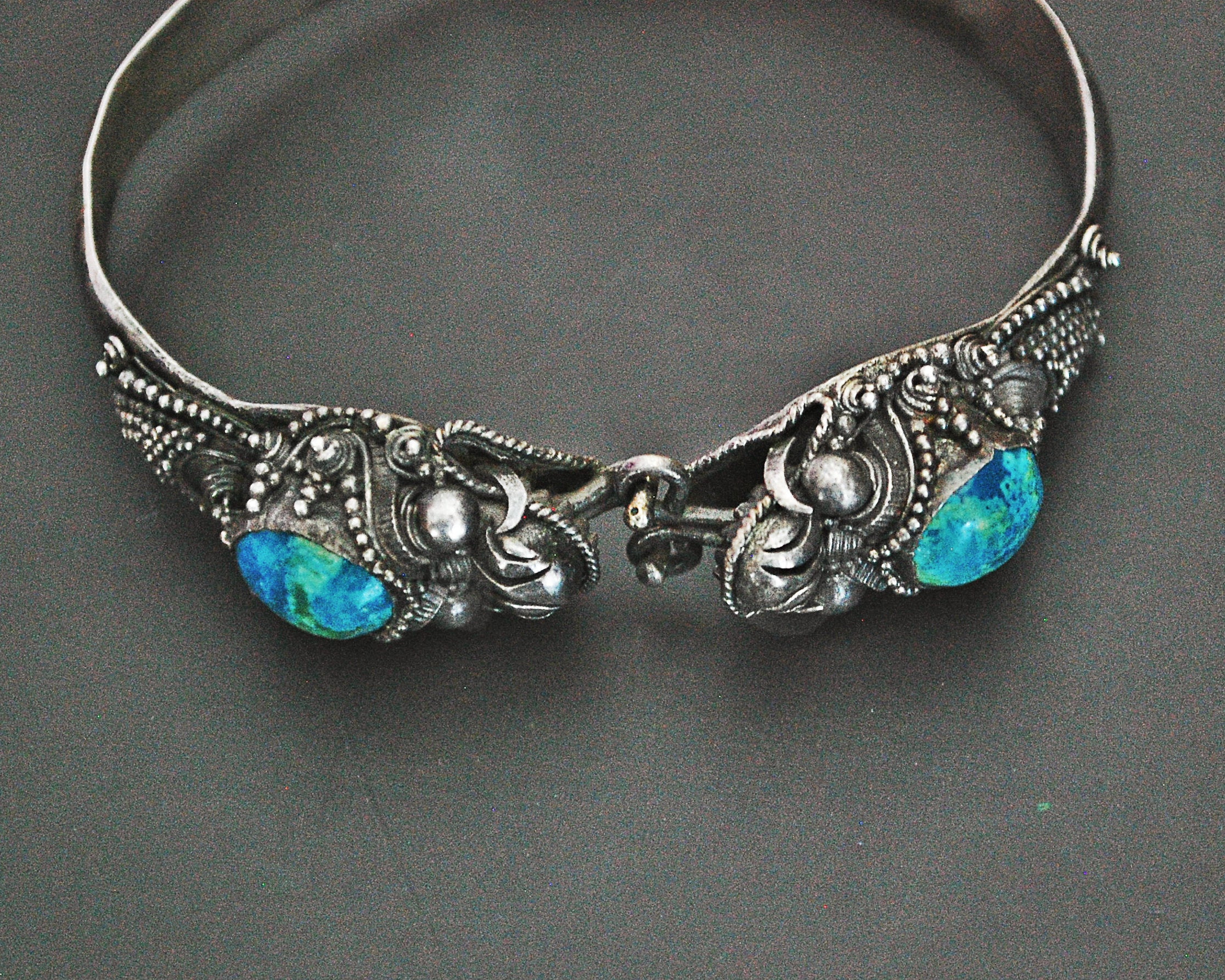 Balinese Dragon Bracelet with Chrysocolla - SMALL