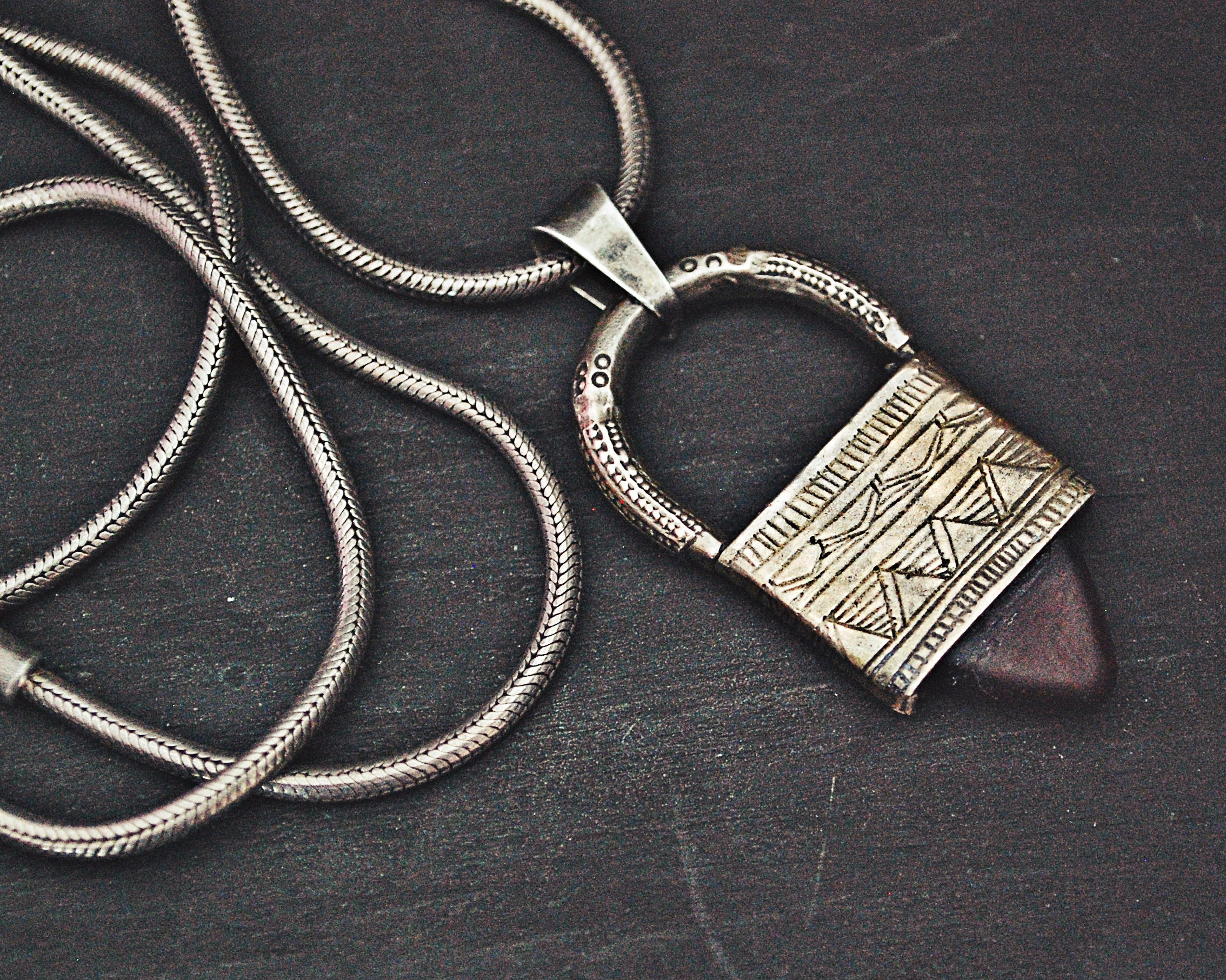 Tuareg Ingall Cross on Silver Chain