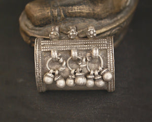 Rajasthani Tribal Silver Pendant with Bells
