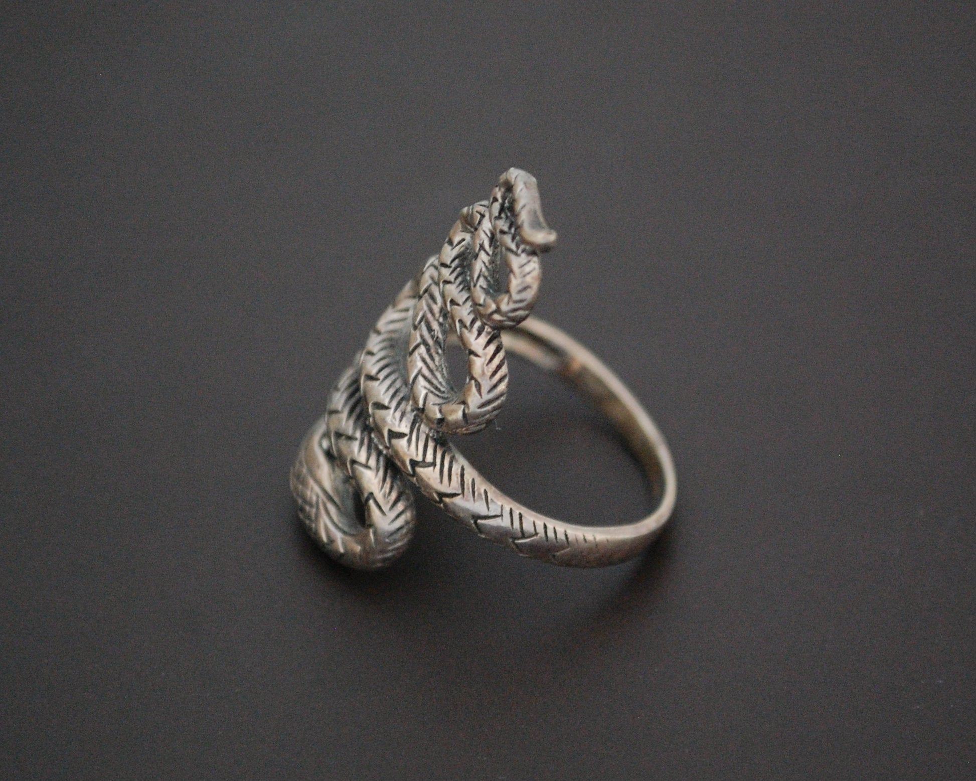 Sterling Silver Snake Ring - Size 8