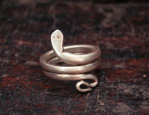 Snake Coil Ring from India - Size 8.5